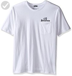 Brixton Men's Tanka Ii Short Sleeve Pocket Tee, White, Large - Mens world (*Amazon Partner-Link)