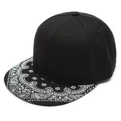 brand new 3e745 b37e3 Men Women Adjustable Baseball Cap Flat Bill Paisley Hippie Snapback HipHop  Hat is hot sale on Newchic.