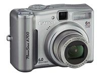 Canon PowerShot A700 6.0 MP Digital Camera - With Gifts