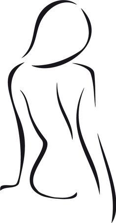 Pencil Art Drawings, Art Drawings Sketches, Easy Drawings, Minimalist Drawing, Minimalist Art, Outline Art, Body Sketches, Silhouette Art, Beauty Art