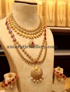 Uncut Diamond Long Set Ruby Bangles | Jewellery Designs