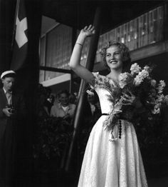 The worlds' first Miss Universe - Finland's 17 year old Armi Kuusela,June Old Hollywood Glamour, Vintage Beauty, Good Old, Finland, 1960s, Nostalgia, Universe, Flower Girl Dresses, Wedding Dresses