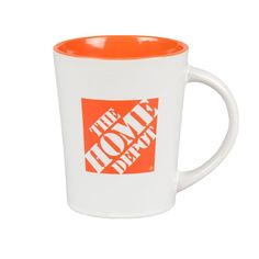 Sip coffee from this Home Depot mug you sketch plans for the day's DIY project. It's ceramic with a glossy orange interior and the Home Depot logo on the outside. Works for tea, too. We heard of a guy who keeps pencils and stuff in this mug on his work bench. It's your call.