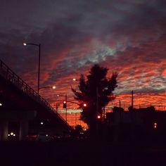 Wonderful sunset in Aguascalientes ,Mexico