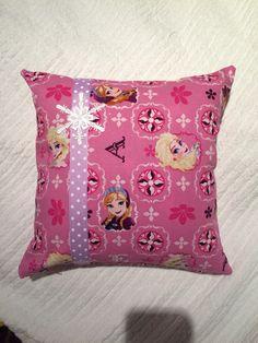 Frozen print cushion. Made by Arthur Peanut.