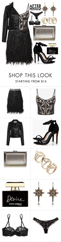 """""""Femme Fatale"""" by asnaate ❤ liked on Polyvore featuring Matthew Williamson, Alexander McQueen, IRO, Boohoo, Dolce&Gabbana, La Perla, Maison Lejaby and afterdark"""