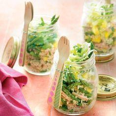 Frisse rijstsalade met ham, ananas en asperges. #JumboSupermarkten #recept #salade