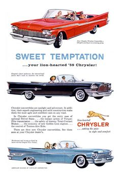 Chrysler 1959 Sweet Temptation Lion-Hearted - www.MadMenArt.com | Vintage Cars…