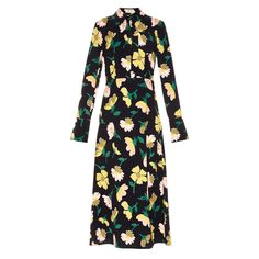 Robe longue noire fleurie Marni