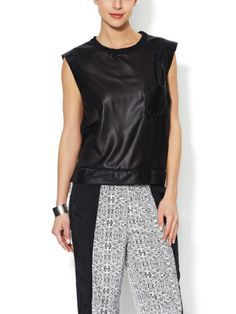 Gage Faux Leather Muscle Top by Walter on sale now on Gilt.