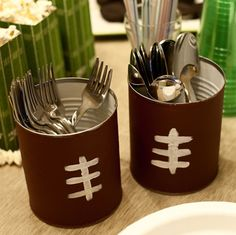 DIY football tins that are great for any tailgate or football party you may host #PreppyPlanner