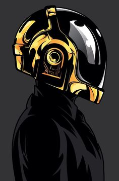 Daft Punk by Salvador Anguiano, via Behance Arte Punk, Punk Art, Dubstep, Daft Punk Poster, Techno, Sketch Manga, Electro Music, Motorcycle Art, Art Graphique