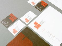 An interesting looking logo for this stationery set. It also appears it is made up of lines instead of being just one solid color. #stationery Jefferson Sheard Architects