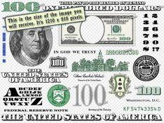 Hundred Dollar Bill Design Images Photoshop Transparent File PNG Graphics Vignet Money Template, Id Card Template, Card Templates, Fake Money Printable, Dollar Tattoo, 100 Dollar Bill, Dollar Bills, Credit Card App, Money Images