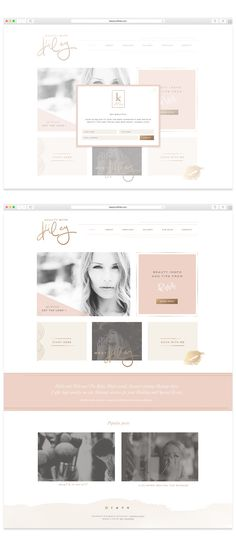 Beauty With Kiley Website Design by Mel Volkman Custom WordPress Website Blog Makeup Artist Website Beautiful Website Design Blog Design St Augustine Business Branding