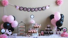 Cute pink and black party