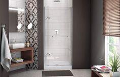 Reveal 71 pivot door Alcove or Configurable or Corner - MAAX Pivot Doors, Shower Doors, Chrome, Storage, Wall, House, Furniture, Alcove, Design