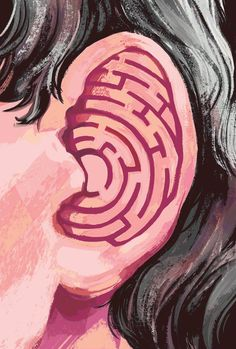 The onset of hearing loss has turned conversations into a humorous maze - The Globe and Mail Sign Language Art, Deaf Art, Deaf Culture, Clinic Design, Gcse Art, Hearing Aids, Art Drawings, Illustration Art, Graphic Design