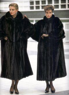 Vintage fur fashion show.