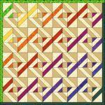 Patchwork patroon: Strip Star