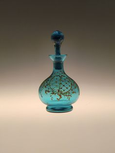 A personal favourite from my Etsy shop https://www.etsy.com/listing/544187304/bohemian-czech-art-nouveau-deco-blue