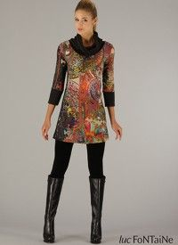 Cowlneck Print Tunic $159.00