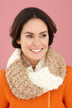 Silky Cowl - Love the colors on this one!  Free crochet pattern from Lion Brand