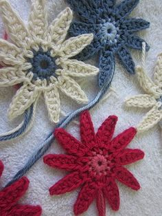 crochet flowers how to make