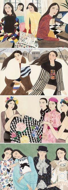 Kelly Beeman's illustrations for Marie Claire Italia | Ilustraciones, Ilustración bonita y Artes visuales