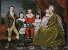 Ralph Earl (1751-1801) —  Mrs. Noah Smith and Her Children, 1798  :  The Metropolitan Museum of Art, New York  USA  ( 3811×2817)