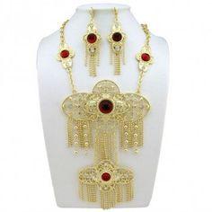 Bijoux Orientaux, Parure Bijoux, Plaqué Or, Traditionnel, Maroc, Afrique,  Perles 2c6a636cf7e6