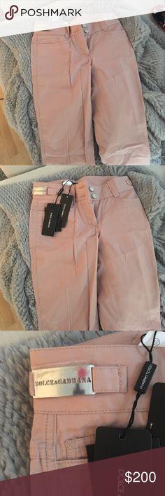 Dolce & Gabbana Light Pink khaki pants Dolce & Gabbana Light Pink khaki pants brand new with tags never worn! Dolce & Gabbana Pants
