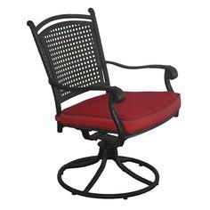 Savannah Aluminum And All Weather Wicker Swivel Rocker Chair - Set of 2 $534.99