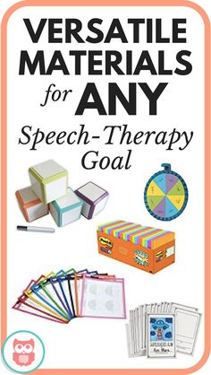 This post is full of versatile speech therapy materials that can work for any goal or with any activity! Several creative ideas for how to use them too! From Speechy Musings.