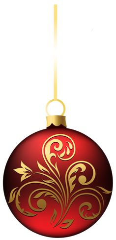 Large Transparent BlueRed Christmas Ball Ornament PNG Clipart