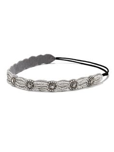 Beaded Headband in SILVER in Accessories. Women's Clearance from NEW YORK & COMPANY