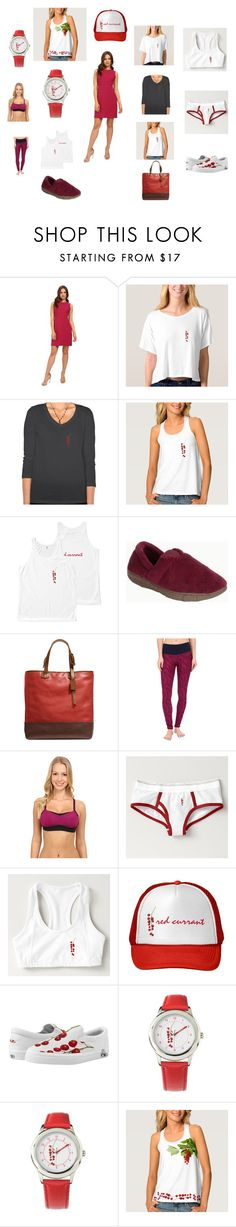 """Red Currant"" by polyart-466 ❤ liked on Polyvore featuring Donna Morgan, Muk Luks, Coach and Brooks"