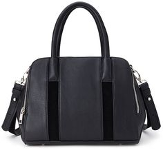 FOREVER 21+ Zippered Faux Leather Satchel