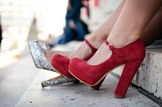❥ ...click your heels 3 times...there's no place like home. Red!!