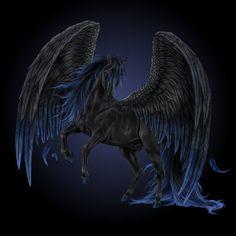 Black Pegasus | Black Pegasus by Howrseprofile 4 Jens tatt