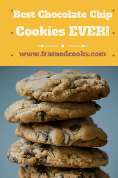 This recipe for the best chocolate chip cookies ever may take two days, but they are worth every single second that it takes to make them! Homemade Chocolate Chip Cookies, Eat Dessert First, Macaroons, Meringue, Food Ideas, Pie, Chips, Good Things, Foods