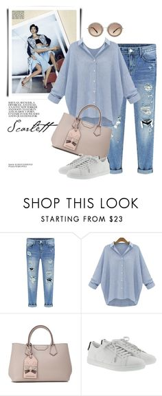 """""""Denim"""" by monmondefou ❤ liked on Polyvore featuring Yves Saint Laurent and Miu Miu"""