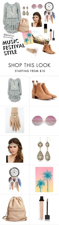 """""""Another Festival Style"""" by honeystarflake ❤ liked on Polyvore featuring LoveShackFancy, Chloé, Red Camel, Tracie Andrews, Phase 3, Jouer and tarte"""