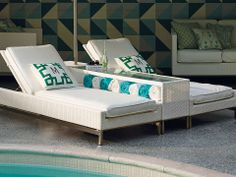 The cool, contemporary look of our Metropolitan White Seating Collection is an enduring choice for relaxing outdoors.
