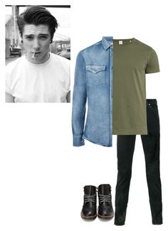 """//Zachary ( New FC)"" by kawaiimonster81 ❤ liked on Polyvore featuring Yves Saint Laurent, Sørensen, Brunello Cucinelli, men's fashion and menswear"