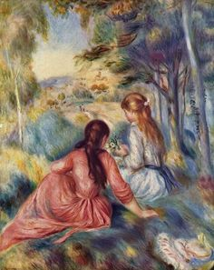Dans la Prairie (Jovencitas en un Prado, 1890-94) Pierre Auguste Renoir (Francia, 1888-1892) Impresionismo