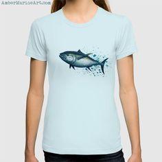 Apparel • Bluefin Tuna Splash • Watercolor art by Amber Marine