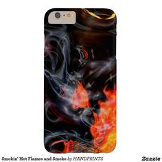 Smokin' Hot Flames and Smoke Barely There iPhone 6 Plus Case