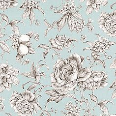Beautiful sky blue and gray toile floral cotton sateen. Modern or traditional? You be the judge. This light blue floral toile fabric is available by the yard and on most Loom custom furnishings.