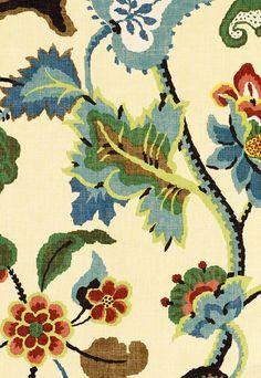 J. Waddell Interiors: Floral Remix  @Schumacher